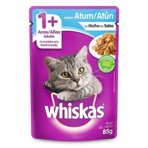 Ração Úmida Whiskas sabor Atum ao Molho para Gatos adultos 85 gr