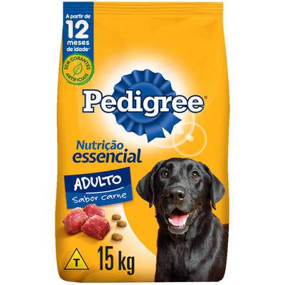 Ração para Cães Adultos Pedigree Nutrição Essencial Raças Médias e Grandes Carne 15 kg