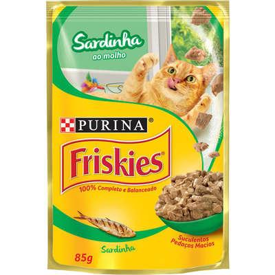 Ração Úmida Friskies Nestlé Purina sabor Sardinha ao Molho para Gatos 85 gr